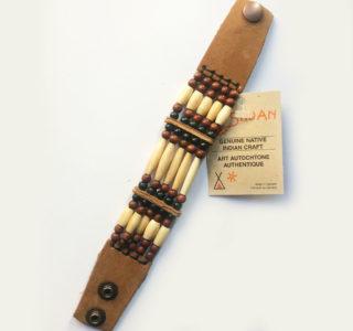 1005 marron clair Bracelets 5R AMERINDIEN HURON 5 Nations Canada homme femme la joya-western