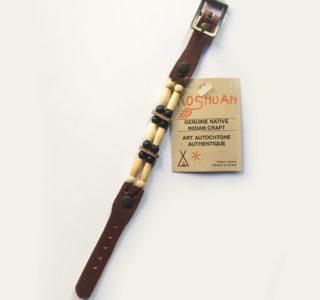 1027 marron foncé Bracelets 2R AMERINDIEN HURON 5 Nations Canada homme femme la joya-western