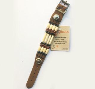 1031 marron F Bracelets 4R AMERINDIEN HURON 5 Nations Canada homme femme la joya-western.jpg