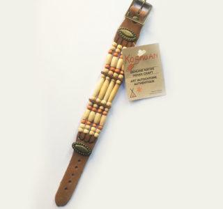 1031XXL marron clair Bracelets 4R AMERINDIEN HURON 5 Nations Canada homme femme la joya-western